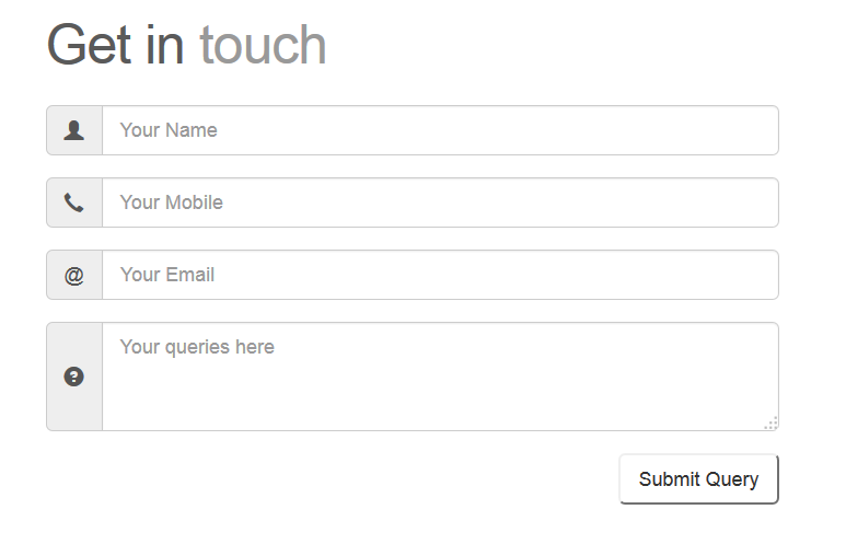 Responsive Contact Form for web sites to receive contact entries through mail using Bootstrap and PHP