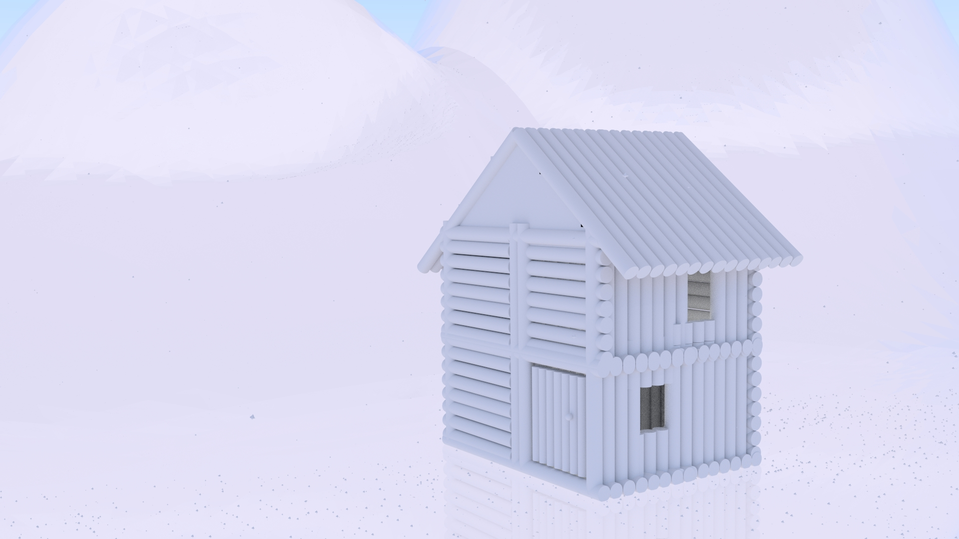 An ice home bought to life using blender (cycles)